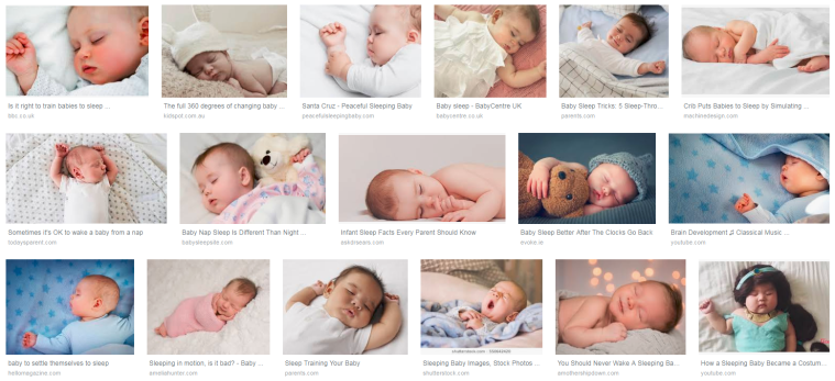 google images for sleeping baby