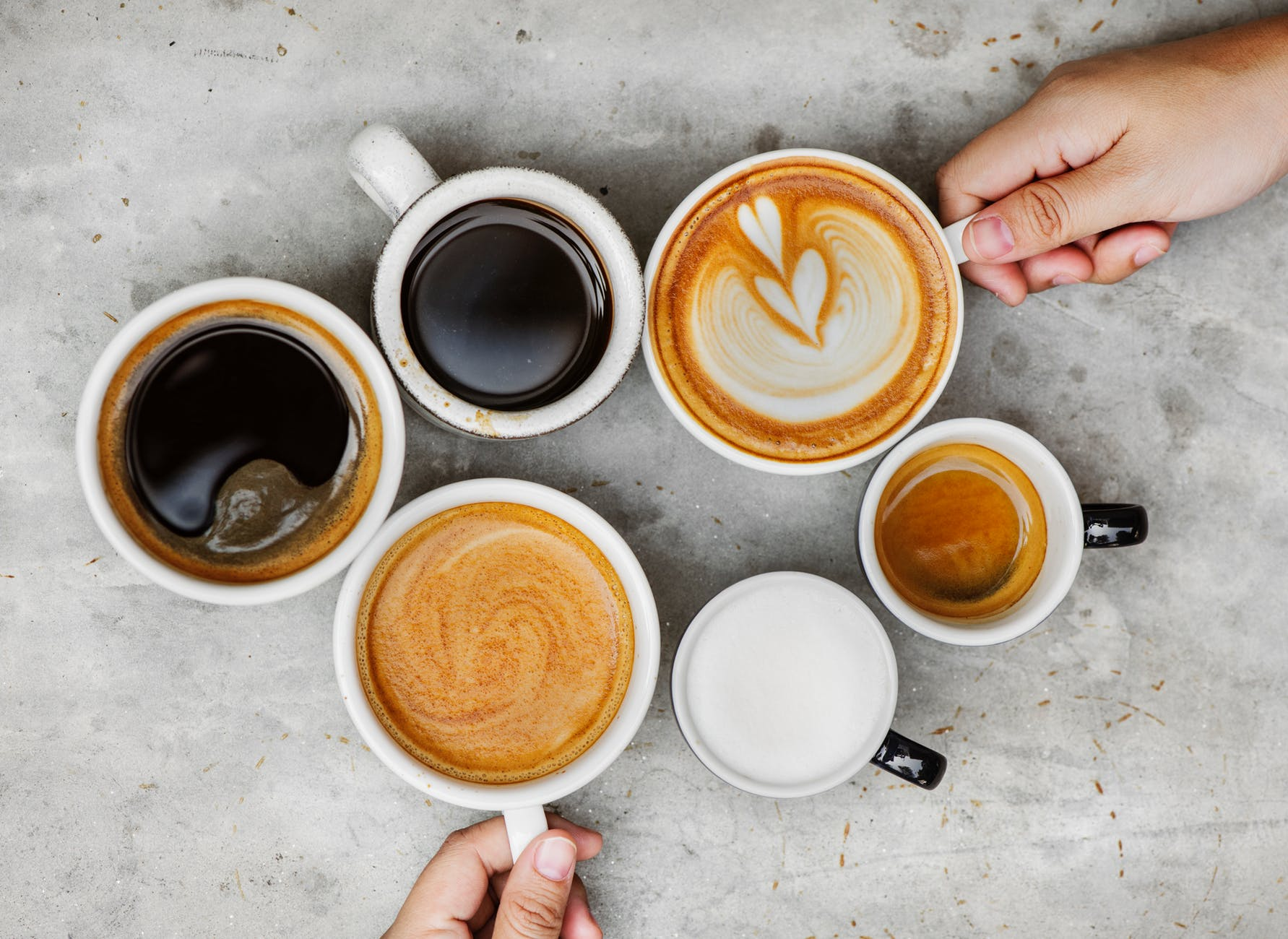 Image of lots of cups of coffee